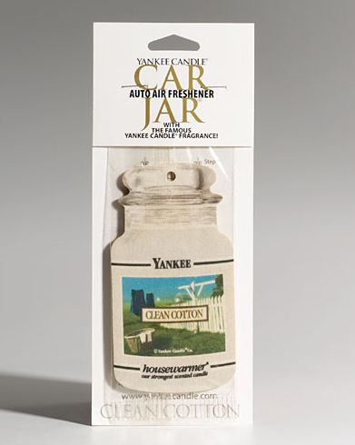 Yankee Candle Clean Cotton Car Jar Air Freshener