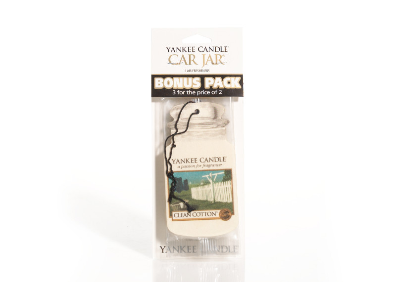 Yankee Candle Clean Cotton Car Jars 3-pack