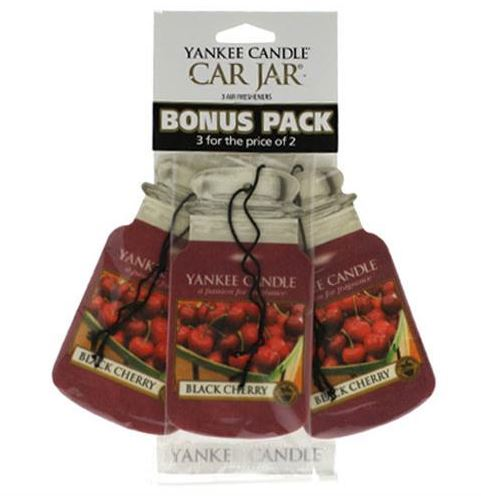 105970 Black Cherry Car Jars Air Freshener - 3-pack