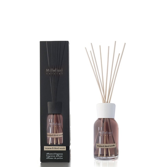 Millefiori Natural Incense & Blond Woods Diffuser 100 ml