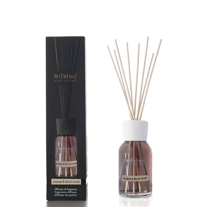 Millefiori Natural Incense & Blond Woods Diffuser 250 ml