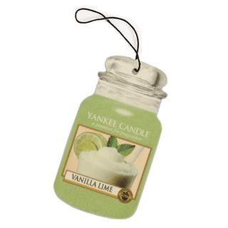 Yankee Candle Vanilla Lime Car Jar Air Freshener