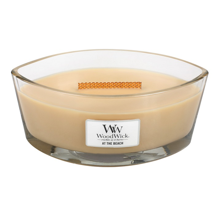 WoodWick At The Beach Ellipse Hearthwick Jar Candle