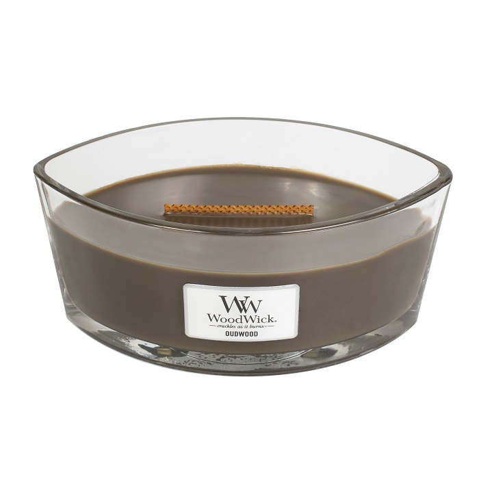 WoodWick Oudwood Ellipse Hearthwick Jar Candle