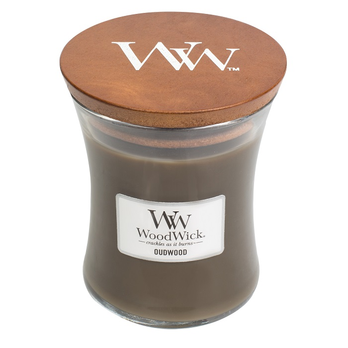 WoodWick Oudwood Medium Jar Candle