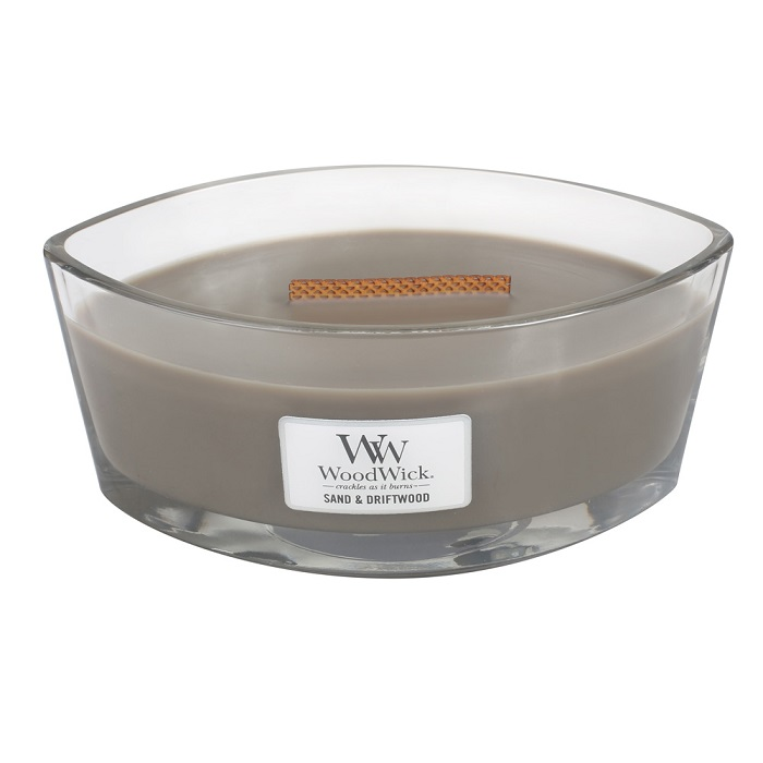 WoodWick Sand & Driftwood Ellipse Hearthwick Jar Candle