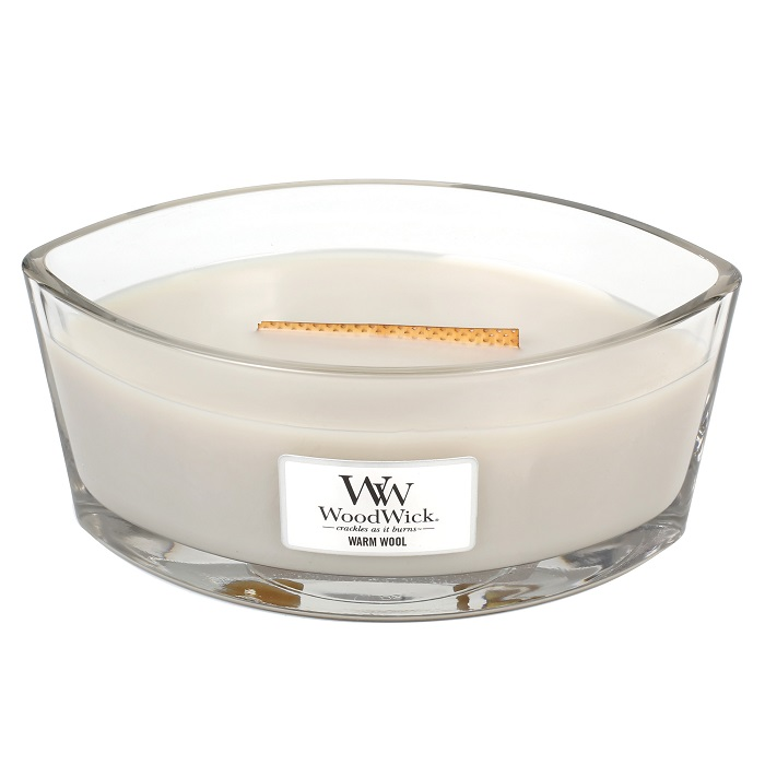 WoodWick Warm Wool Ellipse Hearthwick Jar Candle