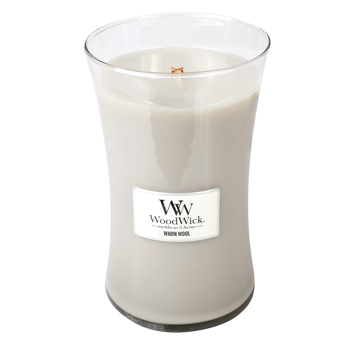 WoodWick Warm Wool Large Jar Candle