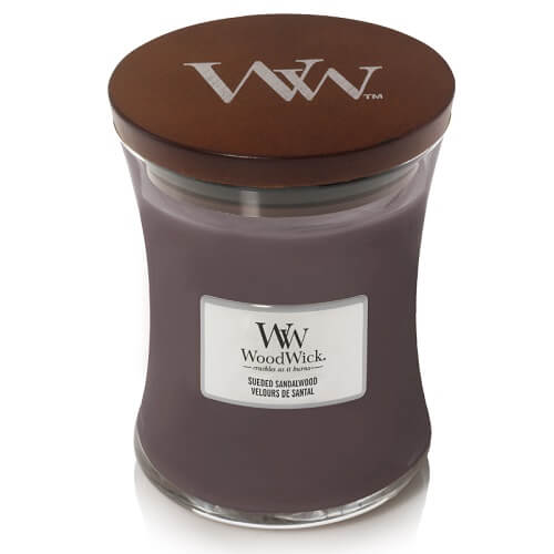 WoodWick Sueded Sandalwood Medium Jar Candle