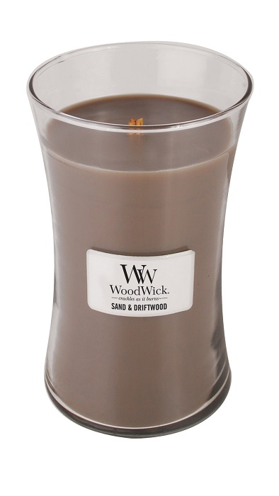WoodWick Sand & Driftwood Large Jar Candle