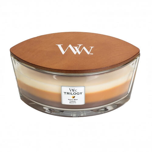 WoodWick Cafe Sweets Ellipse Trilogy Hearthwick Jar Candle