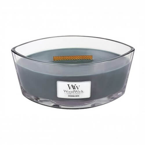 WoodWick Evening Onyx Ellipse Hearthwick Jar Candle