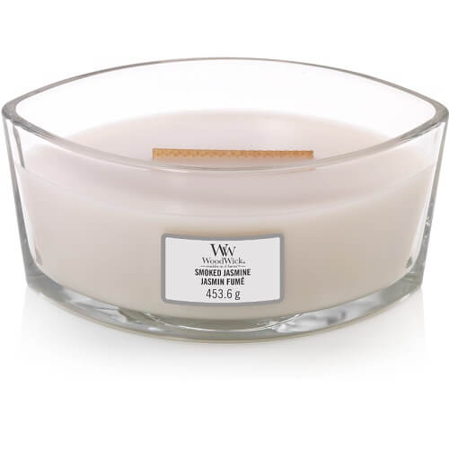 WoodWick Smoked Jasmine Ellipse Hearthwick Jar Candle
