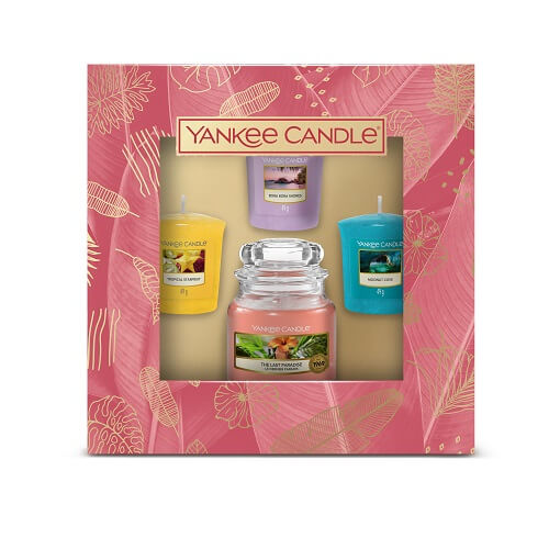 Yankee Candle The Last Paradise 1 Small Jar & 3 Votives Gift Set