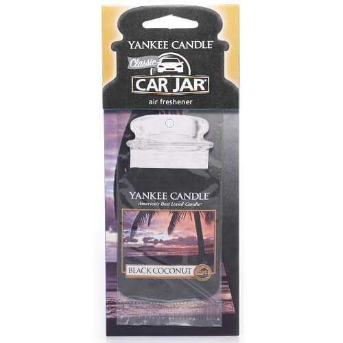 Yankee Candle Black Coconut Car Jar Air Freshener Black